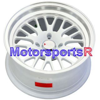 16 16x8 XXR 531 White Wheels Rims Deep Dish Lip Stance 93 97 Honda