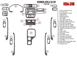 Honda CRV 97 98 Any Material Wood Carbon Dash Trim Kit Styling 1997
