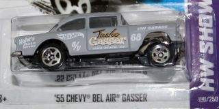 HOT WHEELS SHOWROOM   55 CHEVY BEL AIR GASSER