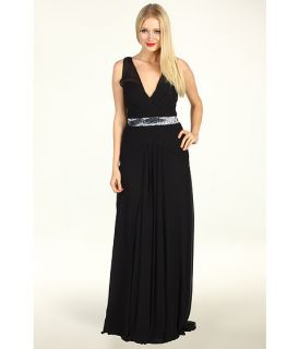 Nicole Miller Evening Gown With Sequin Inset Band