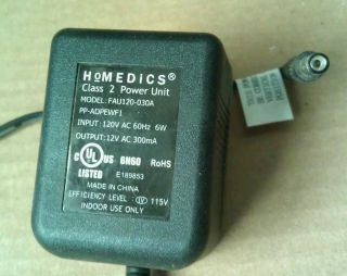 12 Volt 300mA Heating Massage Pad FAU120 030A AC Wall Power Adapter