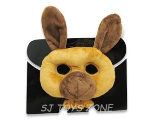 Soft Plush Animal Mask Kids Costume Dress Up Party Gift Toy Kangaroo