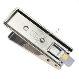 New Silver Micro Sim Card Cutter 2 Adapter for iPhone 4 4G