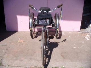vintage 3 wheel adult tricycle 24 trike 1 speed