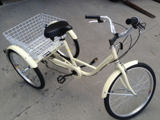 New 24 Adult Tricycle 3 Wheel 6 Speed Trike Shimano