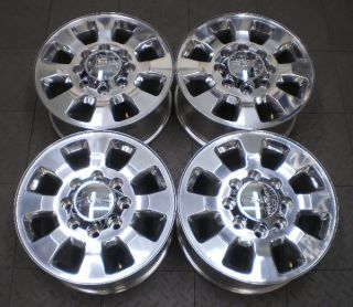 Full set of four (4) wheels from a used 2011 2012 GMC 2500/3500