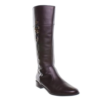 ak anne klein carlow riding boot wide calf brown 1