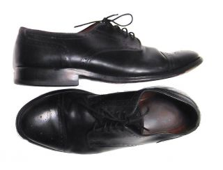 ALLEN EDMONDS SANFORD Black Leather Brogue Oxfords Cap Toe Dress Shoes
