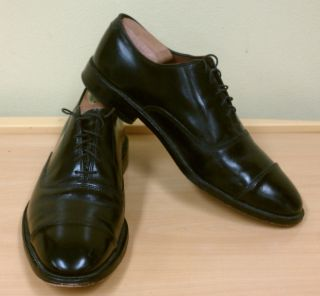 Allen Edmonds Park Avenue Black Oxford Sz 9 5 D $325