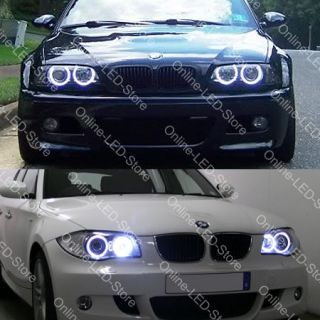 Euro 8000K Alpina White BMW LED Angel Eyes E82 E87 E90 E92 E93 E60 E70