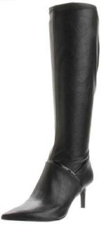Nine West Aliceeve Womens Knee High Boots Sz 8 5 M Black 2 3 4 Heel
