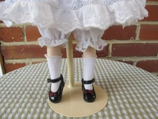 franklin mint porcelain heirloom victorian doll alyssa