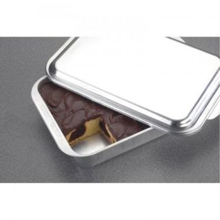 New Aluminum Square Cake Pan with Lid Dome Cover Baking Pan Cookware