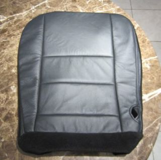 F250 F350 Harley Davidson Amarillo Black Leather Bottom Seat Cover