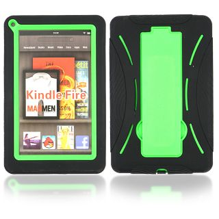 Kindle Fire Heavy Duty Hybrid Hard Soft Stand Case Cover Black