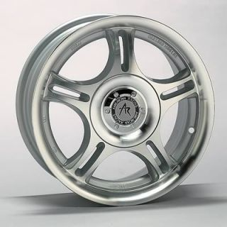 American Racing Euro Silver Estrella Wheel 14x6 4x100mm Set of 4