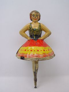 Vintage Marx Ballerina Spinning Top Tin Toy Works