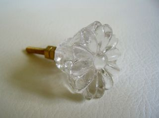 Clear Daisy Glass Crystal Drawer Pulls Cabinet Knobs