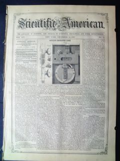 1858 Scientific American Dental Extraction of Teeth by Electricity