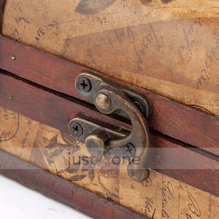 Chic Decorative Gift Vintage Gracious Wooden Jewelry Box Storage