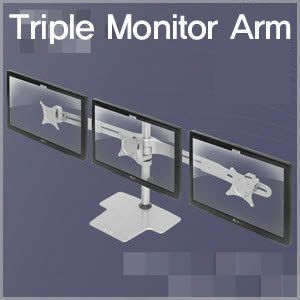 Triple LCD Monitor Arm Bracket Mount for 27 Stand
