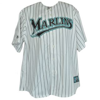 MLB Majestic Florida Miami Marlins Mens Traditional Licensed Pinstripe