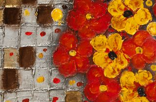 Flower Art Modern Oil Painting on Canvas Texture Abstract Wall Art