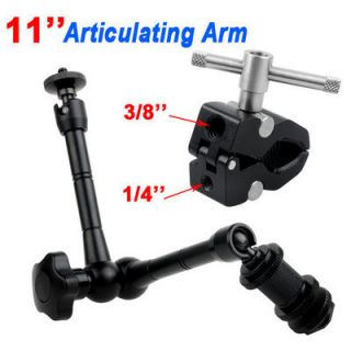 new 11 Inch Articulating Magic Arm + Super Clamp for LCD Monitor LED