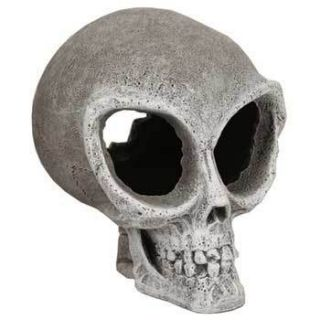 Blue Ribbon Alien Skull Mini Aquarium Decoration