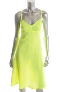 Nanette Lepore New Yellow V Neck Spaghetti Straps Full Slip 8 BHFO