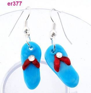 pair Shoes shape Art Glass Murano Lampwork Murano Earrings er377