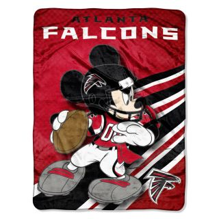 Atlanta Falcons NFL Disney Mickey Mouse Micro Raschel Throw Blanket 46