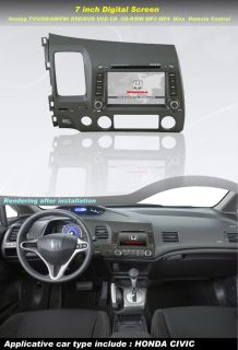In Dash Car DVD Player GPS Radio System with 7Touch LCD for Honda