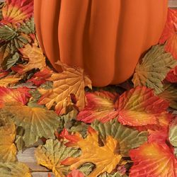 PC Autumn Fall Leaves Petal Maple Leaf Wedding Table Decoration Party