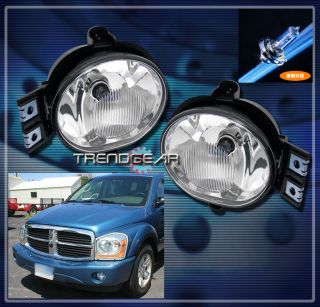 DODGE RAM PICKUP TRUCK/2004 2006 DURANGO BUMPER CHROME FOG LIGHTS LAMP