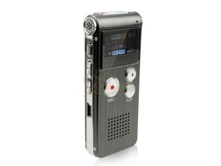 Black 4GB USB Digital Spy Audio Voice Recorder Dictaphone  Music