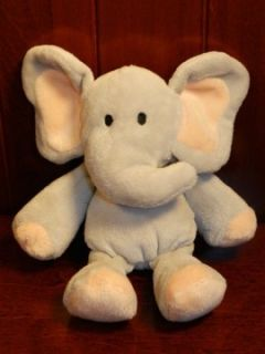 Grey Elephant Stuffed Animal Plush Baby Lovey Toy 6 Gray Peach