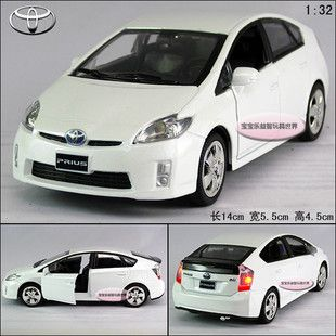 Prius Alloy Diecast Model Car with Sound Light White B200C