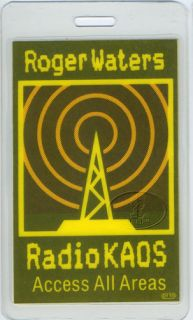 Roger Waters 1987 Laminated Backstage Pass Pink Floyd