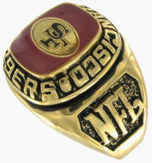 Balfour Ring Football NFL Team San Francisco 49ers Sz10