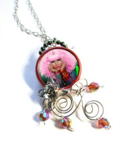Nicki Minaj Pink Barbie Bich Necklace