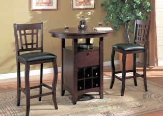 Yuan Tai Harrah 3 PC Pub Set Pub Table 2 Bar Chairs