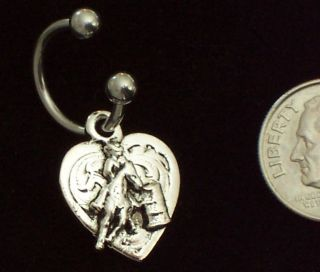 Barrel Racing Racer Belly Navel Ring Naval Rodeo Horse