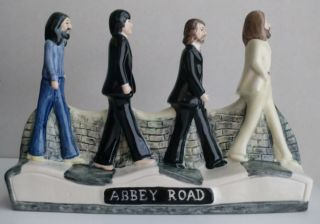 Bairstow Manor Pottery The Beatles Abbey Road Diorama Figurine RARE