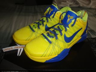 2012 Nike Kobe VII 7 Barcelona Barca Home Away Yellow US 7 5 UK 6 5 40