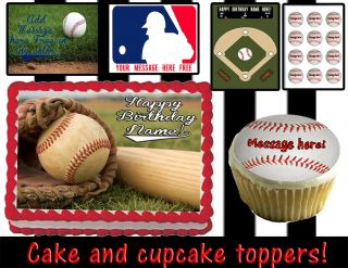 Baseball Edible Cake Cupcake Toppers Decoration Tops Sugar Sheet