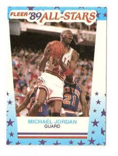 Jordan Fleer All Stars Basketball Trading Card Sticker 3