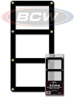 BCW Triple Baseball Trading Card Black Border Screwdown Holder Display