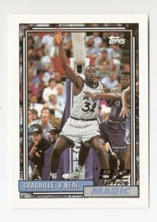 1992 93 Shaquille ONeal Topps Basketball Trading Card 362