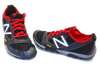 New Balance Mens Trail Running Minimus Shoe Black Gray Red Size 10